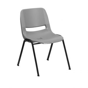 HERCULES Series Gray Ergonomic Shell Stack Chair