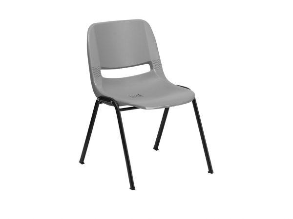 HERCULES Series Gray Ergonomic Shell Stack Chair