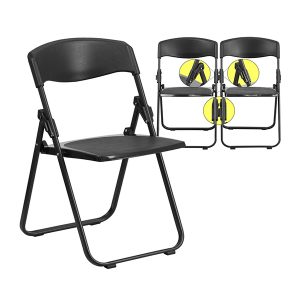 HERCULES Series Heavy Duty Black Plastic Chair