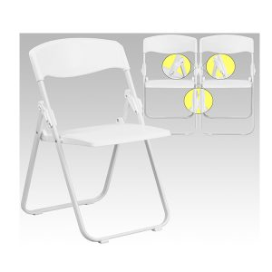 HERCULES Series Heavy Duty White Plastic Chair
