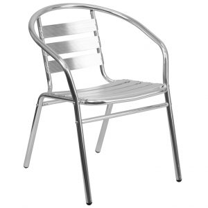 Aluminum Commercial Indoor-Outdoor Restaurant Chair