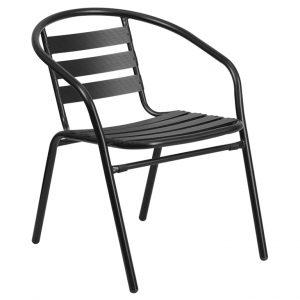 Black Metal Restaurant Chair