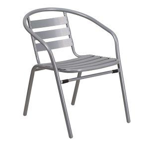 Silver Metal Restaurant Chair