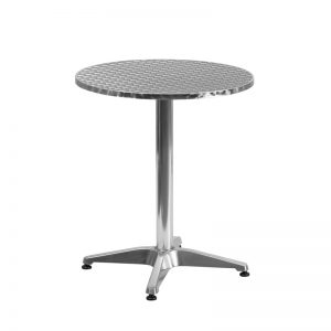 23.5'' Round Aluminum Indoor-Outdoor Table