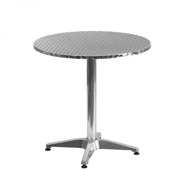 27.5'' Round Aluminum Indoor-Outdoor Table