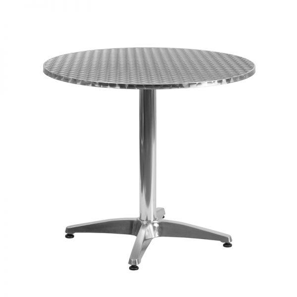 31.5'' Round Aluminum Indoor-Outdoor Table