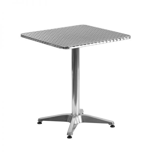 23.5'' Square Aluminum Indoor-Outdoor Table