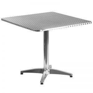 31.5'' Square Aluminum Indoor-Outdoor Table