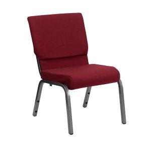 HERCULES Series 18.5''W Burgundy Fabric Chair