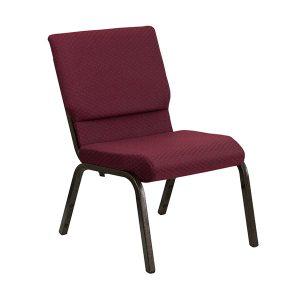 HERCULES Series 18.5''W Burgundy Patterned Fabric Chair