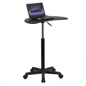 Adjustable Computer Desk with Black Top