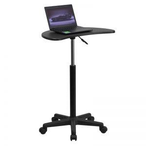 Adjustable Computer Desk with Black Top